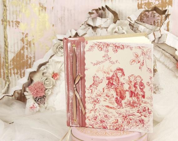 Livre d'or Carnet de notes carnet à poèmes ...à secret ou  , carnet intime toile de jouy