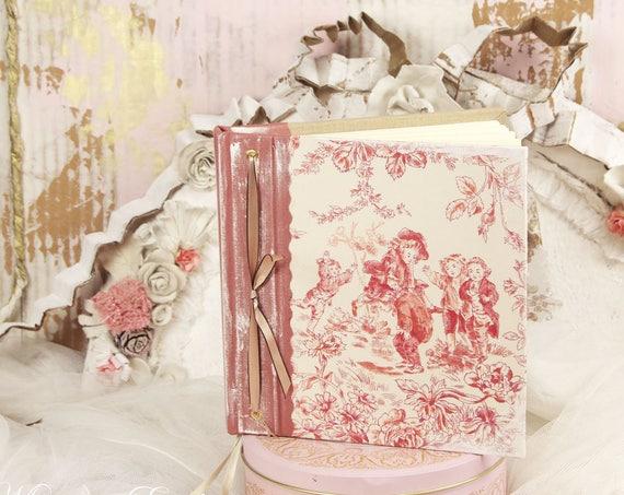 Carnet de notes carnet à poèmes ...à secret ou livre d'or , carnet intime toile de jouy