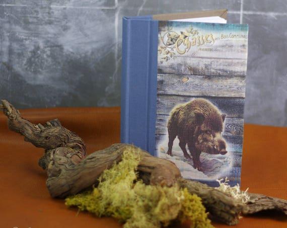 Carnet de chasse souvenirs chasse Le sanglier la bête noire tableau de chasse cadeau chasseurs chasseresses