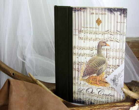 Cadeau Chasse carnet livre de chasse tableau de chasse  oie cendrée sauvaginier Cadeau chasseur chasseresse