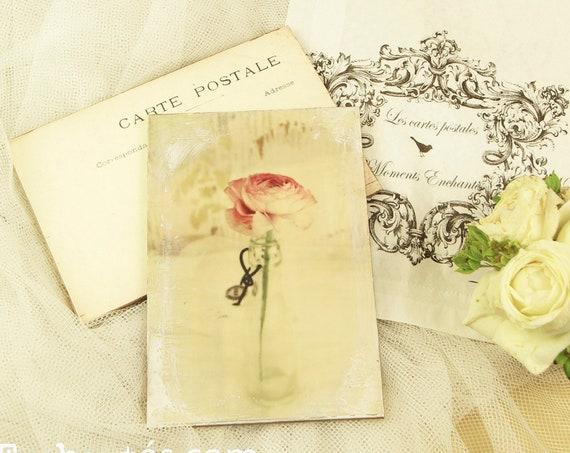 """Carte postale France  """" Le renoncule """" carterie artistique fleurs romantique style"""