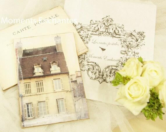 """Carte postale France """" La maison """" carterie artistique architecture"""