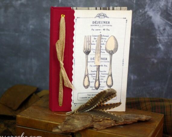 Carnet ou livre de recettes gourmandises, salé sucré carnet chef, organiseur de recettes cuisine
