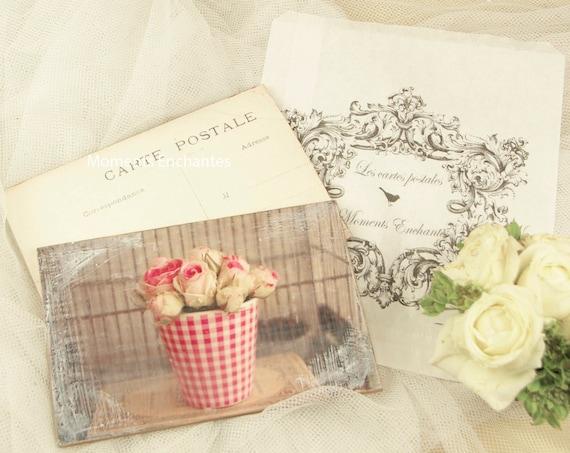"""Carte postale France  """" Les petites roses """" carterie artistique"""