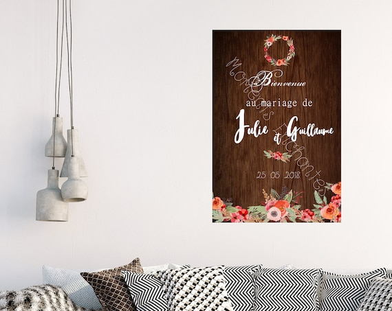 Mariage Panneau de bienvenue pour une jolie décoration mariage champêtre campagne