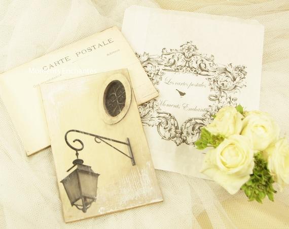 """Carte postale France  """" Le Lampadaire """" carterie artistique"""