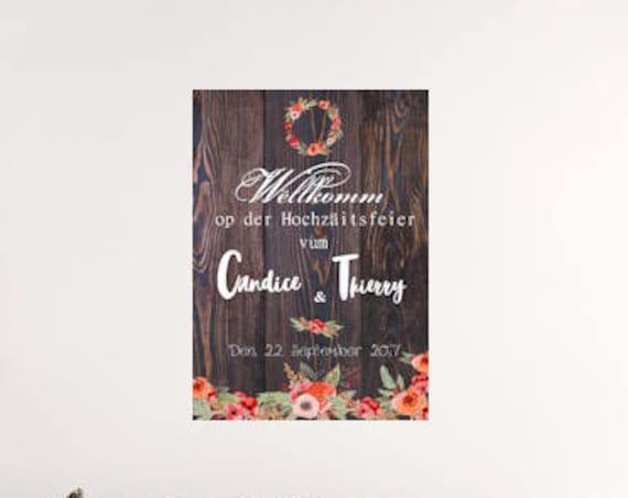 Mariage campagne Panneau bienvenue mariage  décoration mariage façon bois