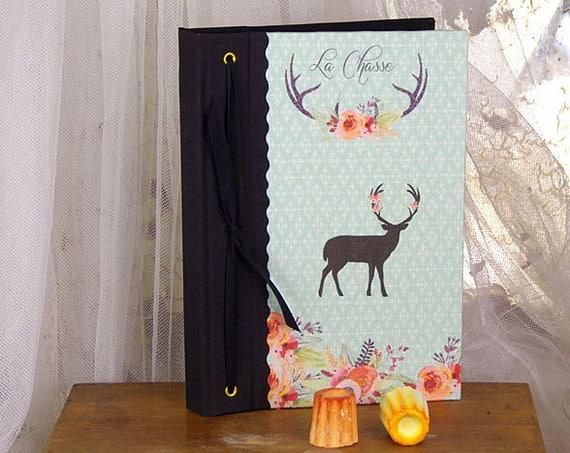 Carnet de chasse une belle idée cadeau pour les chasseurs chasseresses création à l'atelier Cadeau Noël
