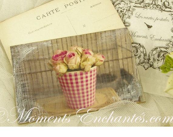 """Carte postale France Dijon """" Les petites roses """" carterie artistique"""