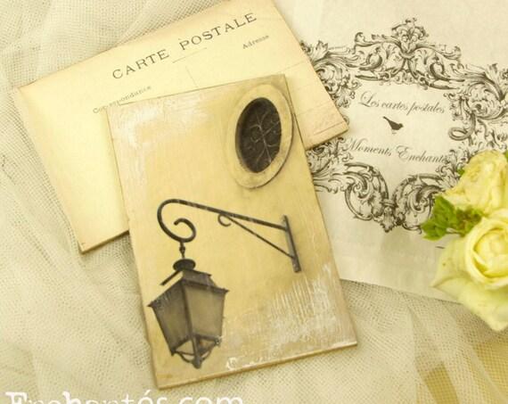 "Carte postale France Dijon "" Le Lampadaire "" carterie artistique"