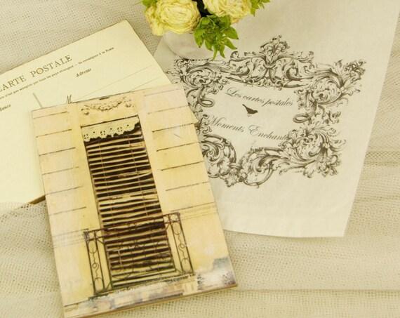 """Carte postale France """" La fenêtre """" carterie artistique"""
