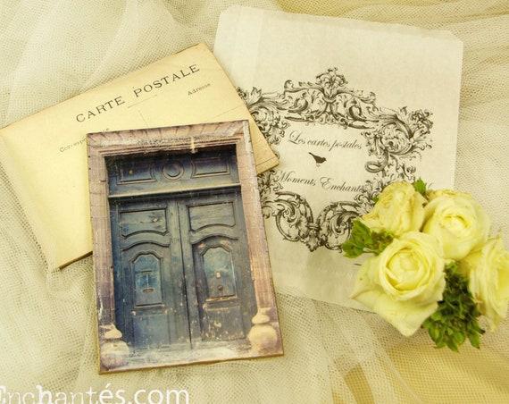 "Carte  postale France Dijon "" La porte bleue "" carterie artistique"