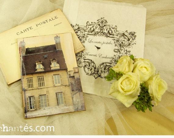 """Carte postale France Dijon """" La maison """" carterie artistique architecture"""