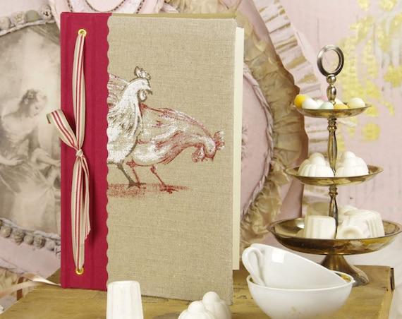 """Carnet de cuisine """" la basse-coure """" livre de cuisine cadeau à personnaliser"""
