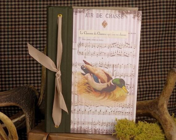 Cadeau Chasse carnet de chasse et tableau de chasse canard colvert cadeau chasseurs chasseresses