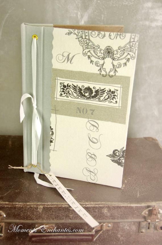 Garden book  bird  Guest book toile de jouy angel mothers' Day