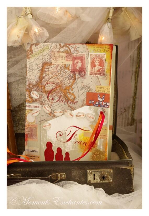 Cadeau Mariage Livre d'or mariage voyages personnalisé Livre d'or idées, livre d'or aventures  carnet de route