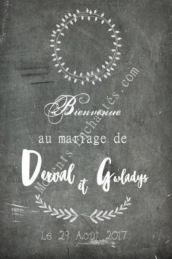 Superbe tableau mariage pour souhaiter la bienvenue à vos invités