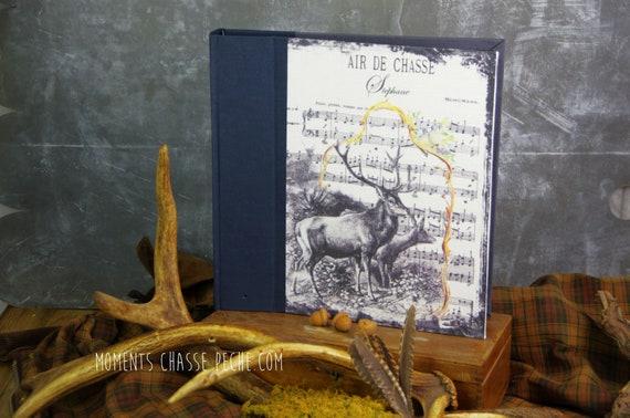 Cadeau Chasse album photo souvenirs Le cerf cadeau chasseur chasseresse Noël