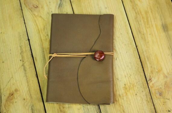 Carnet ou livre de recettes en cuir souple  organiseur de recettes cuisine joli cadeau pour un homme