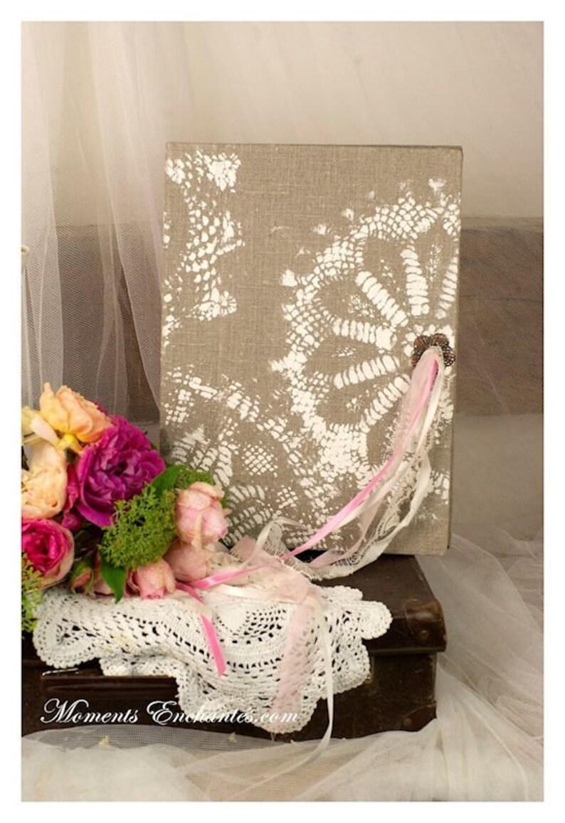 Personnalisé Mariage Livre d/'Or Floral Rose Aquarelle rustique effet bois
