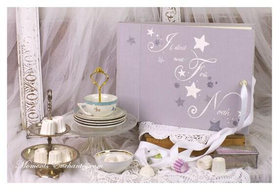 Baptême Grand album photo de naissance Baptême étoiles mille et une étoiles