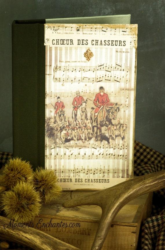 """Cadeau Chasse Carnet de chasse """"La meute  chasseur chasseresse chasse au bois vénerie chasse à courre cadeau chasseurs chasseresses"""