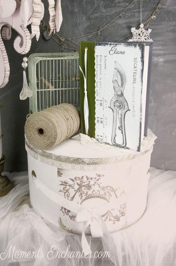 "Garden book  pavillion called "" le secateur ""    linen garden  organizer mothers' Day"