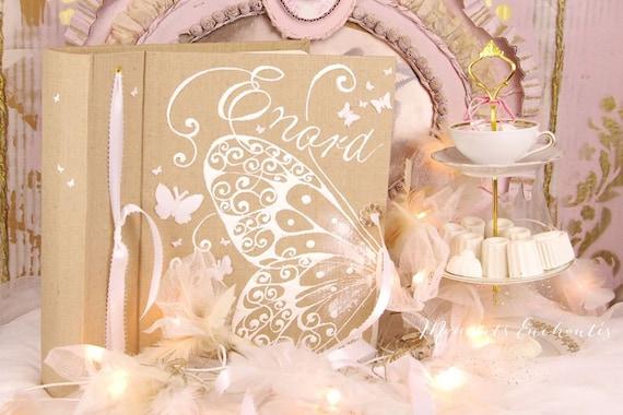 Album photo mariage  souvenirs naissance Baptême mariage papillon et ornements cadeau fille garçon unisexe