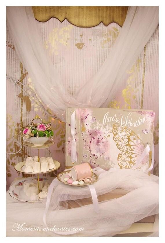 Album photo souvenirs papillons cadeau personnalisé naissance mariage