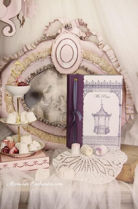 """Garden book  pavillion called """" la gloriette """"  linen garden  organizer mothers ' Day"""