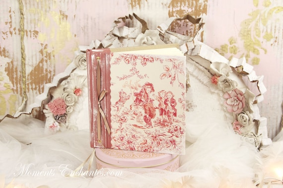 Wedding guest book note book secret book or guest book toile de jouy mothers' Day