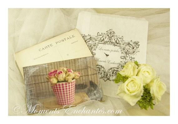 "Postcard France Dijon ""Les roses"" carterie artistique mothers' Day"