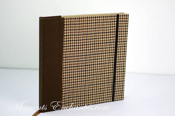 Guest book Note book secret book or guest book hunting tweed note book for man chic mothers' Day