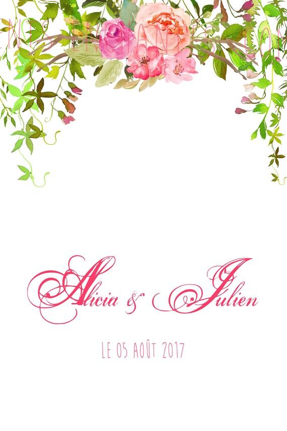 """Livre d'or alternatif """" floral """""""