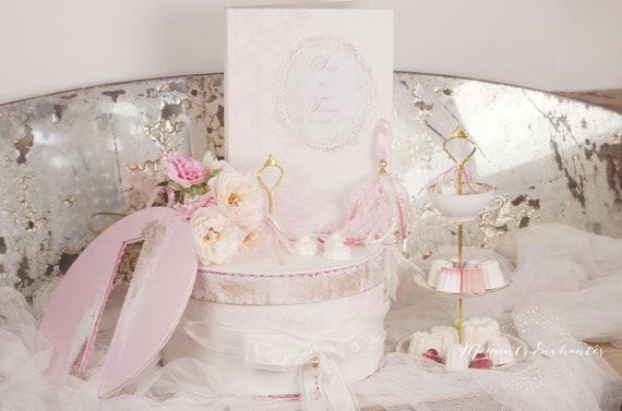 cadeau Livre d'or et son urne mariage dentelle collection Nuage de dentelle dentelle
