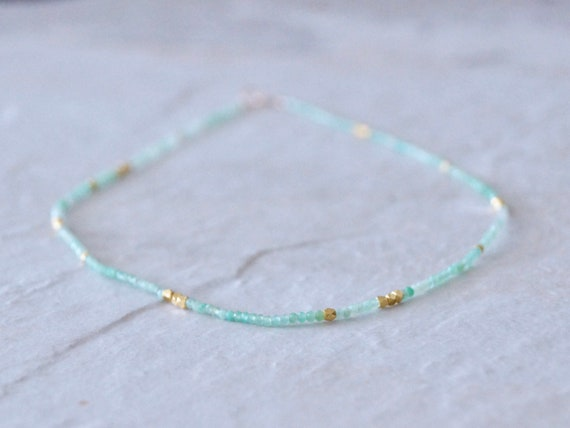 14K Chrysoprase Necklace