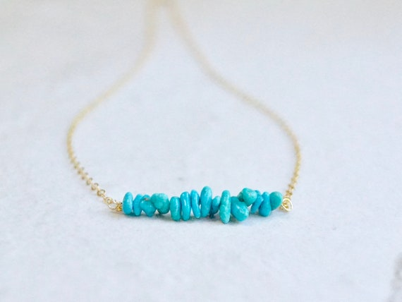 Solid Gold: Raw Stone Necklace