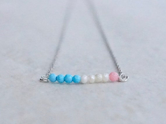 14k Tricolor necklace