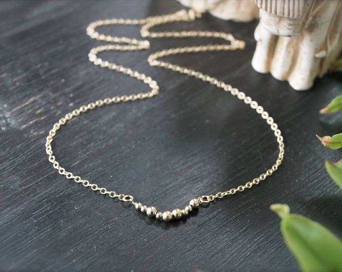14k minimalist necklace