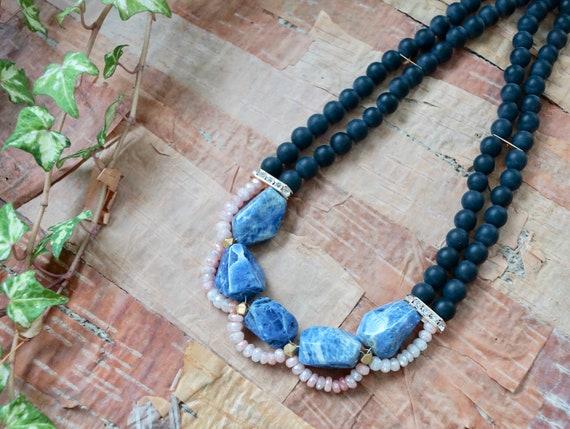 Gemstone Necklace-Sodalite