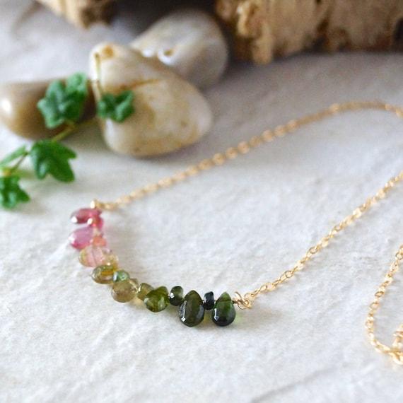 14k: Tourmaline necklace