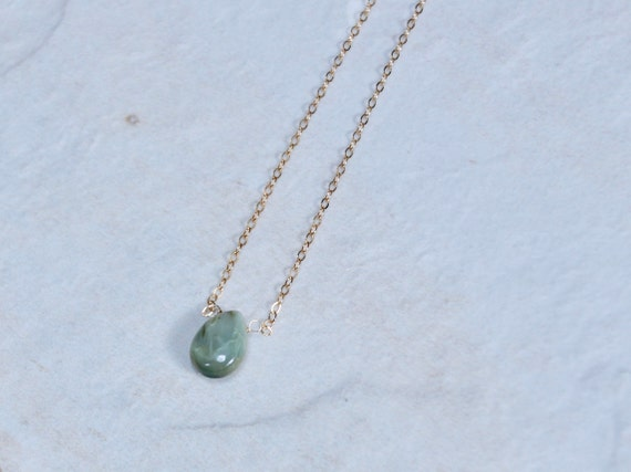 Solid Gold : Chrysoberyl Necklace
