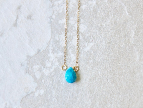 14K Turquoise Necklace