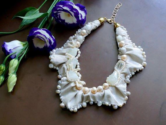 Textile Bridal Necklace