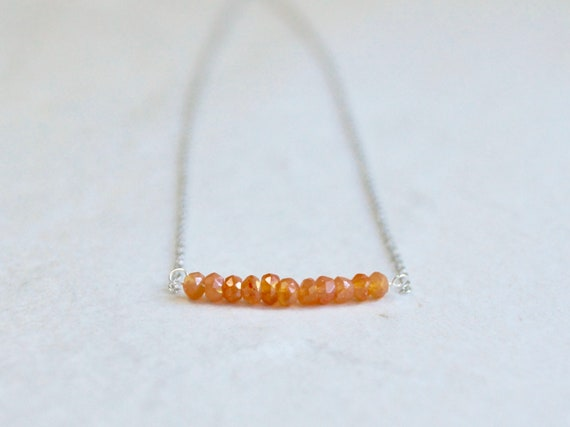 14k Carnelian necklace