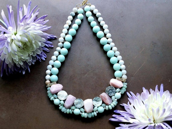 chunky pastel necklace