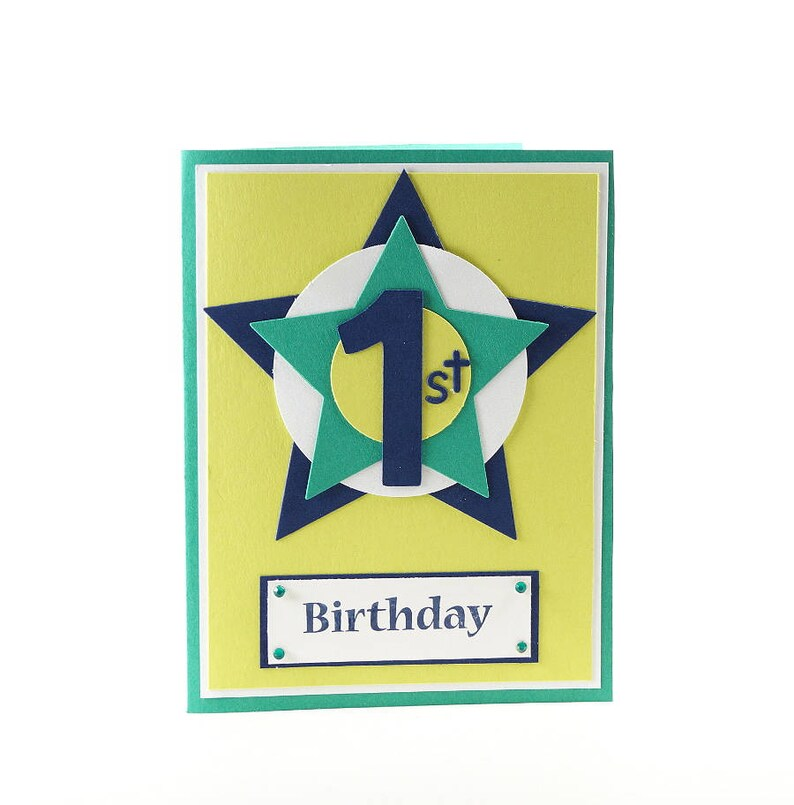 First Birthday Card One Year Old Star Baby Gift Idea Etsy