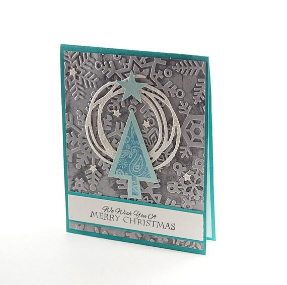 Glitter Christmas Cards.Christmas Cards Handmade Embossed Card Glitter Christmas Whimsical Card Merry Christmas