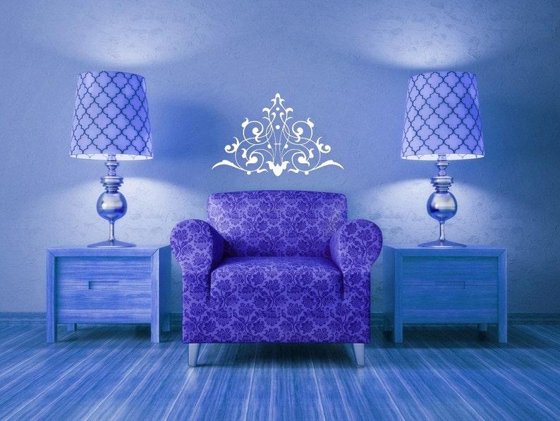 Bedroom Decor Wall Decal Swirl Decal Decorative Design Vintage Decor Victorian Flourish listing is for 1 Home Sticker Vinyl